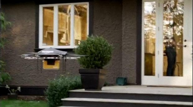 Amazon testa drones para agilizar entregas (Foto: BBC)