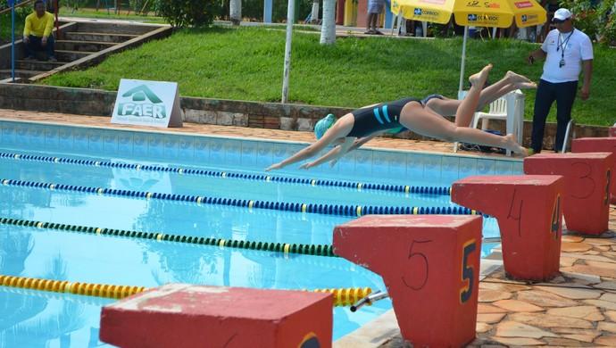 Rondoniense de natação em Cacoal, RO (Foto: Rogério Aderbal)