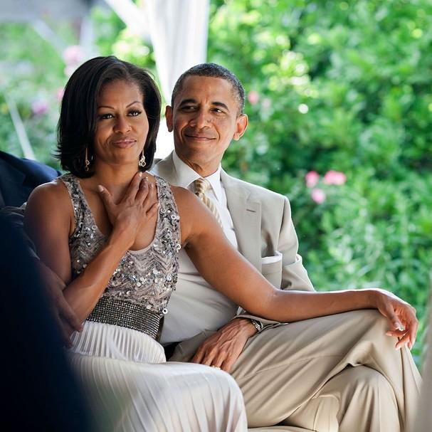 """Barack Obama para Michelle no Valentine's Day: """"Você faz meu dia a dia e qualquer lugar serem melhores"""" (Foto: Instagram/Reprodução)"""