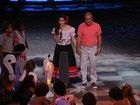 Renato Aragão ensaia com a filha para o 'Criança Esperança'