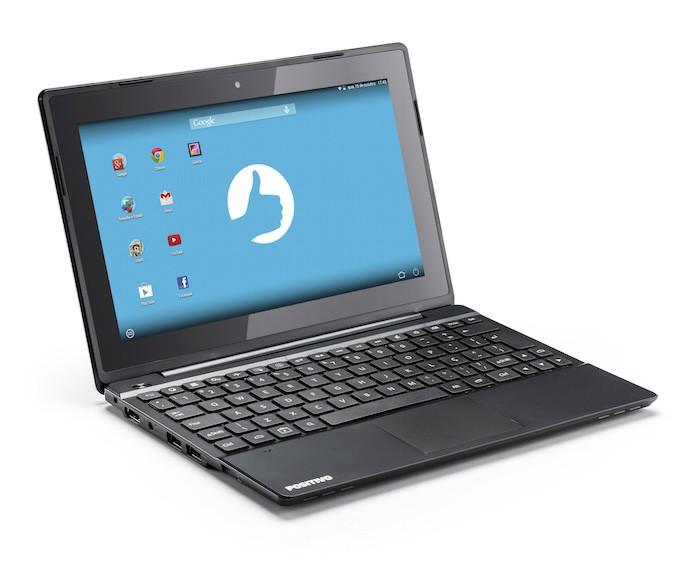 Notebook Positivo SX1000 vem com Android KitKat instalado (Foto: Divulgação/Positivo)