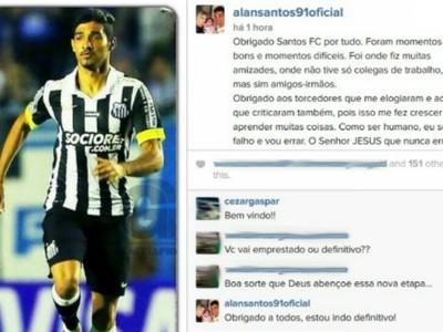 Alan Santos Coritiba (Foto: Reprodução/ Instagram)