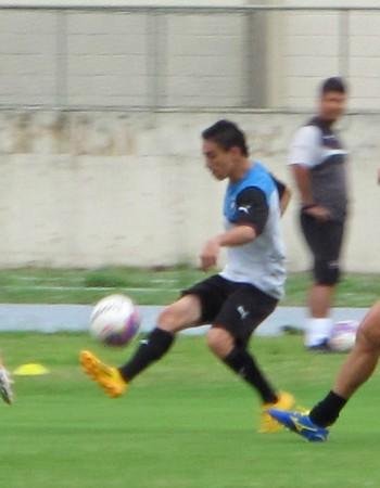 Gilberto, treino Botafogo (Foto: Gustavo Rotstein)