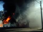 Sindicato manda recolher frota após ataques e incêndio a ônibus em Natal