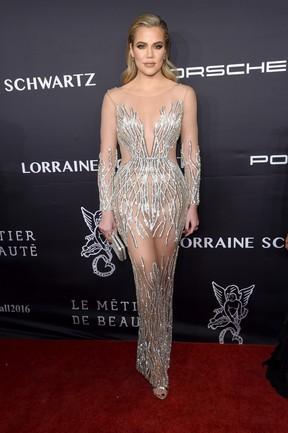 Khloe Kardashian em evento em Nova York, nos Estados Unidos (Foto: Jamie McCarthy/ Getty Images/ AFP)