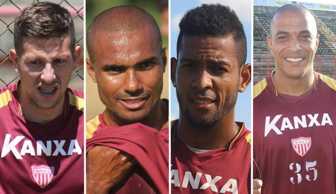 Fábio Sanches, Leonardo, Everton Heleno e Serginho dispensados Mogi Mirim (Foto: Geraldo Bertanha / Mogi Mirim)