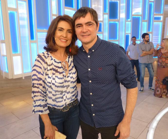Com o vocalista do Skank Samuel Rosa (Foto: Viviane Figueiredo Neto / Gshow)