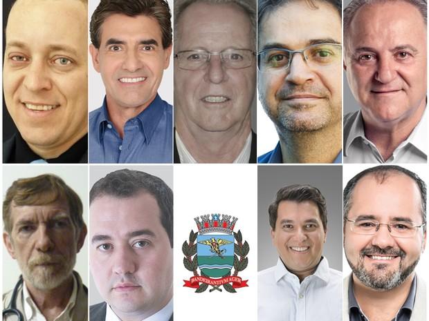 Candidatos à Prefeitura de Ribeirão Preto nas eleições 2016 (Foto: Arte/EPTV)