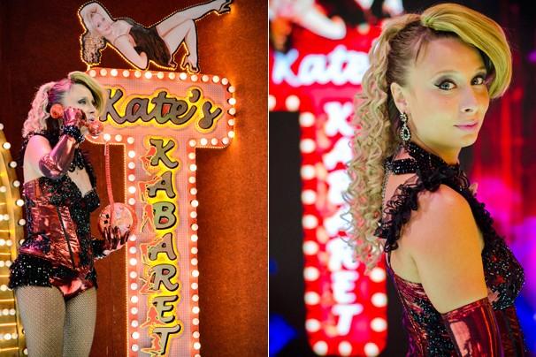 Lady Kate volta em grande estilo para encantar o público com um figurino exuberante e apresentações inusitadas (Foto: Raphael Dias/Globo)