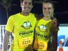 Fiorella Mattheis participa de corrida junto com Flávio Canto