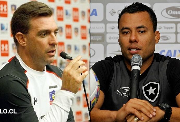 Pablo Guede, Colo-Colo, Jair Ventura, Botafogo (Foto: Arte Esporte)