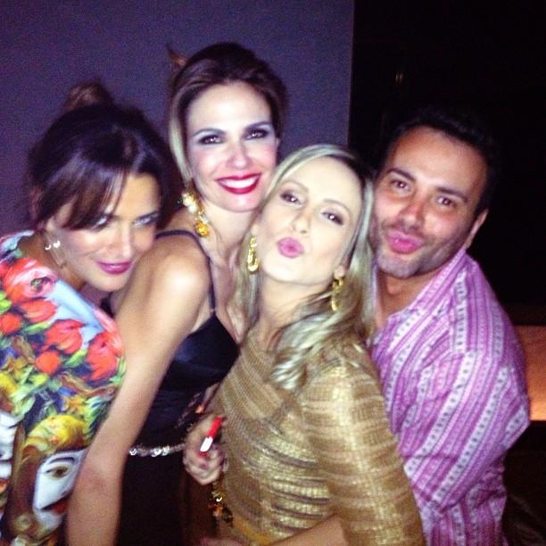 Fernanda Motta, Luciana Gimenez, Claudia Leitte e Matheus Mazzafera em festa em São Paulo (Foto: Instagram/ Reprodução)
