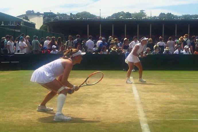 Bia Haddad Maia e Ana Konjuh vencem em Wimbledon (Foto: Divulgação)