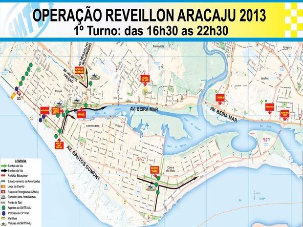 Confira o itinetário em direção a Orla da Atalaia (Foto: Divulgação/SMTT)
