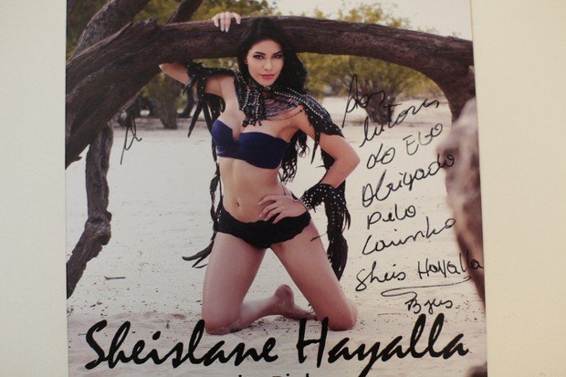 Shislanne Hayalla manda recado para leitores do EGO (Foto: Isac Luz/ EGO)