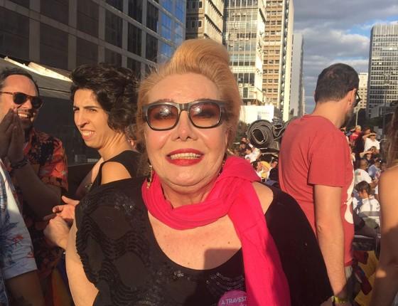 """""""Me sinto muito feliz sim em ser um travesti. Astolfo é gay e ele recebe a Rogéria, que é um personagem"""", disse a atriz  (Foto: Luís Lima )"""