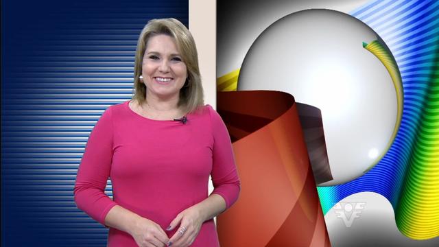 Vanessa Faro apresenta o Tribuna Esporte (Foto: Reprodução/TV Tribuna)