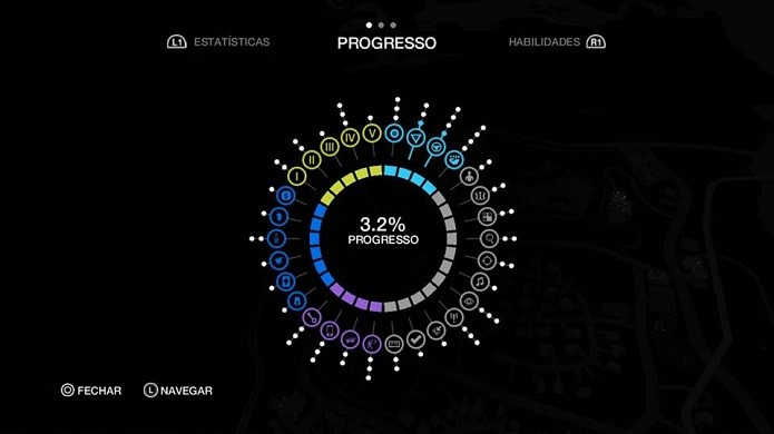 Progresso do jogo é exibido neste menu (Foto: Thiago Barros/Reprodução)