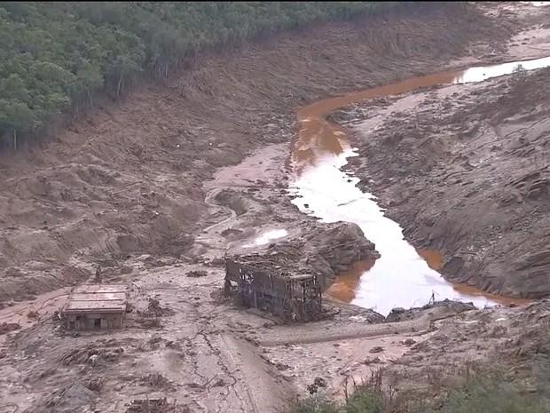Rompimento de barragem em Mariana (Gnews) (Foto: Reprodução GloboNews)