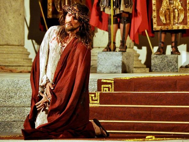O belo paranaense arrasa no difícil papel de Jesus (Foto: Arquivo pessoal)