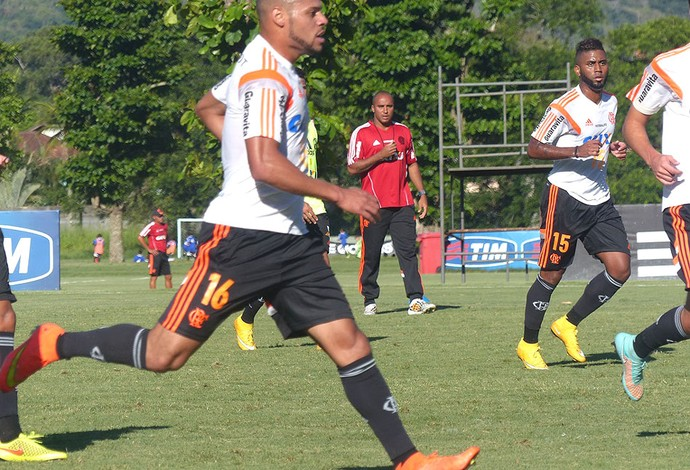 Deivid treino Flamengo (Foto: Cahê Mota)