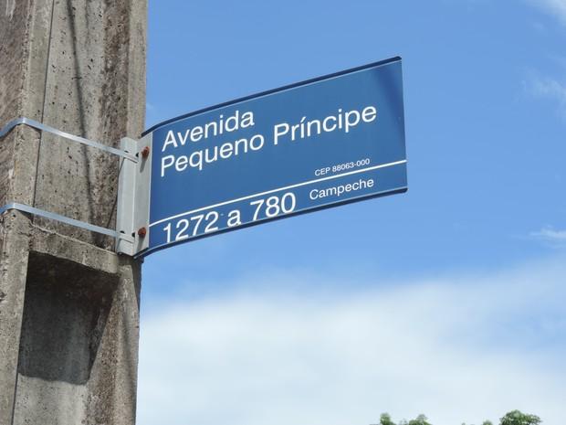 Avenida Pequeno Príncipe é a principal do bairro (Foto: Luíza Fregapani/G1 SC)