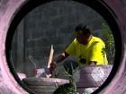 Pintor transforma pontos viciados de lixo em jardim na Serra, ES