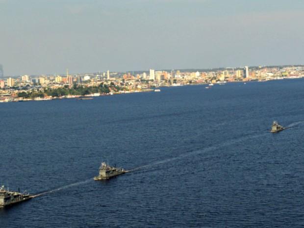 Haverá um desfile naval no Rio Negro (Foto: Marinha/Divulgação)