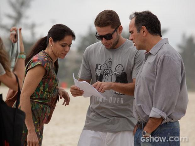 Humberto Martins e Claudia Mauro  (Foto: Em Família / TV Globo)