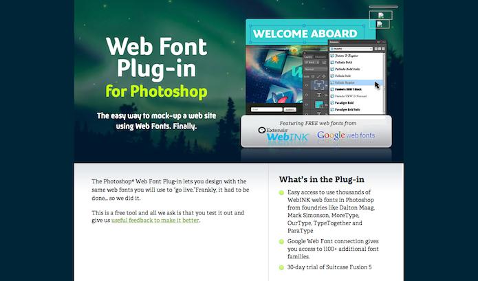 Homepage do site do plugin Webfont  (Foto: Repodução/ Lu Fávero)