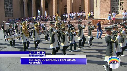Santuário Nacional de Aparecida recebe festival de bandas e fanfarras