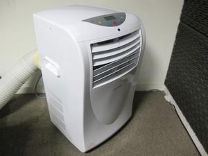 O ar-condicionado portátil é útil para aqueles que não podem fazer a instalação do aparelho em paredes (Foto: Rafael Miotto/G1)