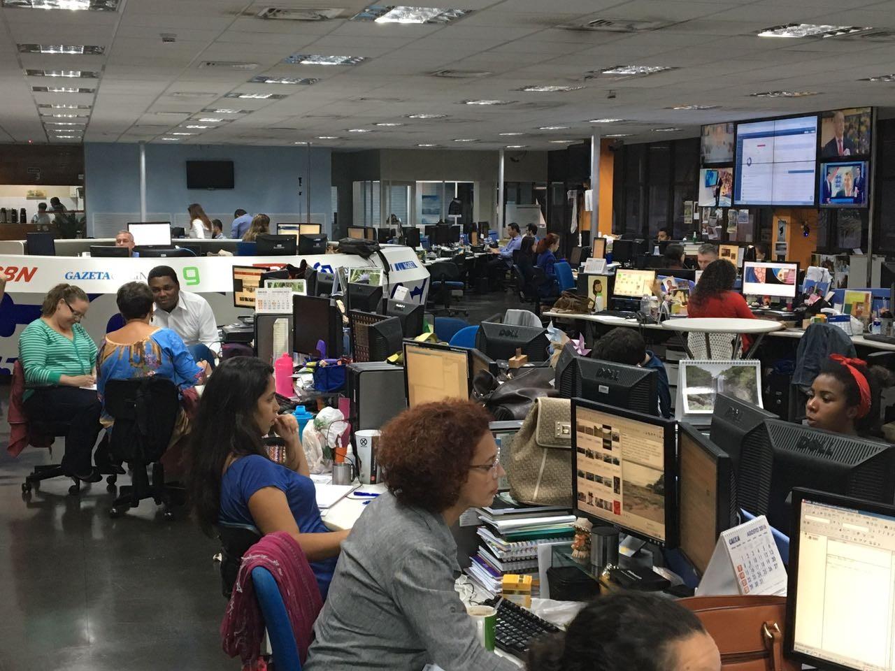 A redação multimídia também estará de plantão (Foto: Bruna Borjaille)