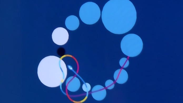 Portais são indicados por várias esferas organizadas em círculos, ativados ao tocar em todas (Foto: ign.com)