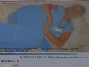 Reprodução de página do processo onde aparece uma das fotos postadas na rede social (Foto: Reprodução/TV Globo)