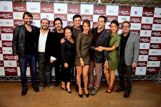Elenco do filme Uma Loucura de Mulher (Foto: Roberto Teixeira / ego)