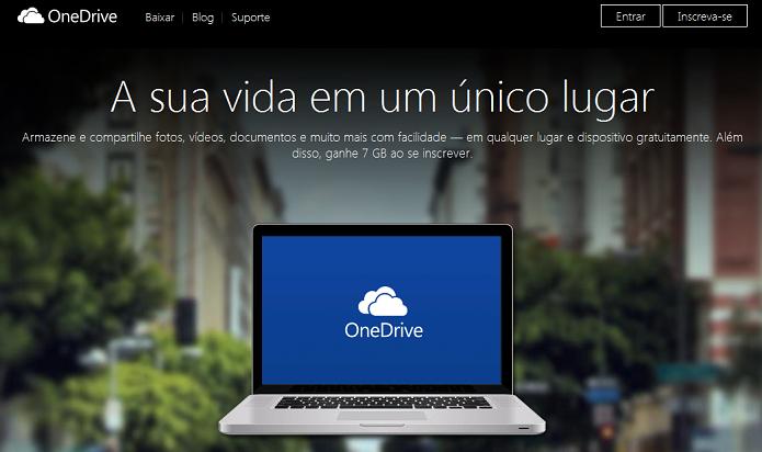 OneDrive: Substituto do SkyDrive já está disponível (Foto: Reprodução/Edivaldo Brito)