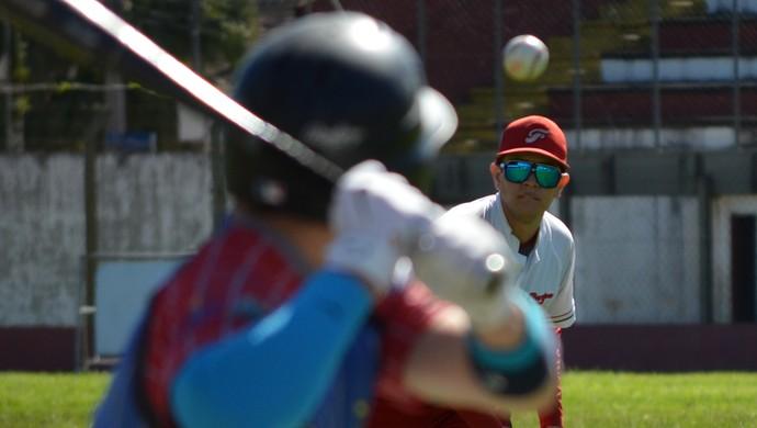 Floripa Ichiban beisebol (Foto: Henrique Porto/Agência Sporto)