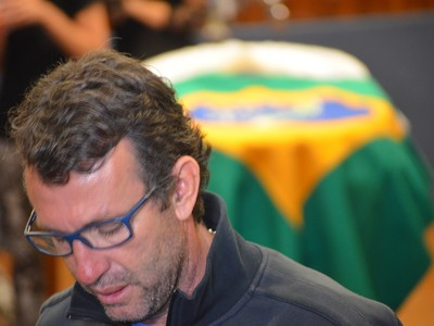 Neto velório Luciano do Valle Campinas (Foto: Fernando Pacífico)
