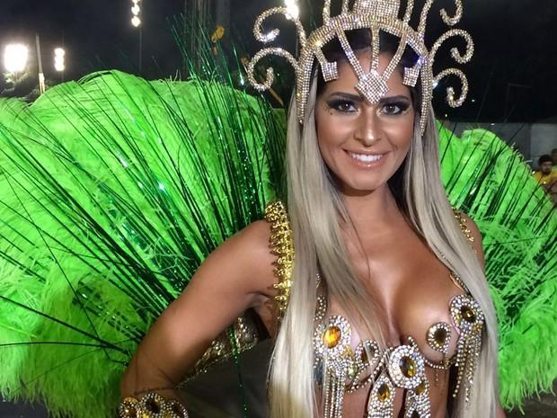 Vivian Sanches, musa da Imperador do Ipiranga, do Grupo de Acesso (Foto: Karina Godoy/G1)