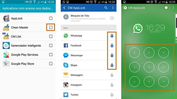 Finalize a tarefa e confira os apps bloqueados pelo novo código, que será solicitado toda vez que abrir o app (Foto: Reprodução/Barbara Mannara)