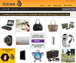 Site da Dabee (Foto: Reprodução)