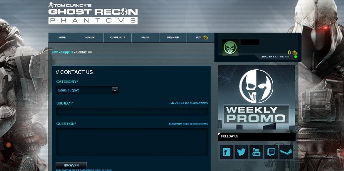 Ghost Recon Phantoms: Como reportar hackers no FPS tático