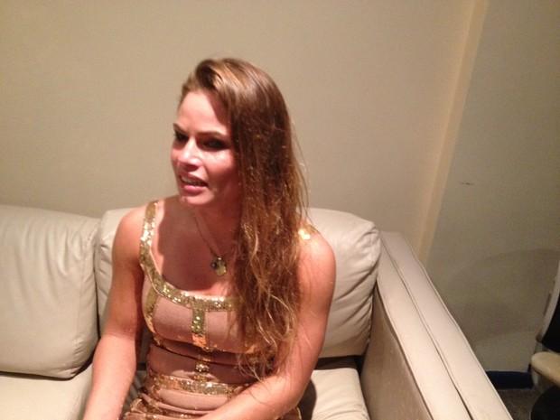 Natalia Casassola, do 'BBB 13', após ser eliminada (Foto: EGO)