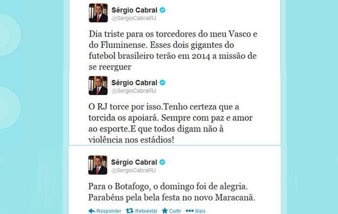 Sergio Cabral twitter lamentando (Foto: Reprodução / Twitter)