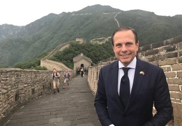 O prefeito de São Paulo, João Doria (PSDB), em visita à China (Foto: Reprodução/Twitter)