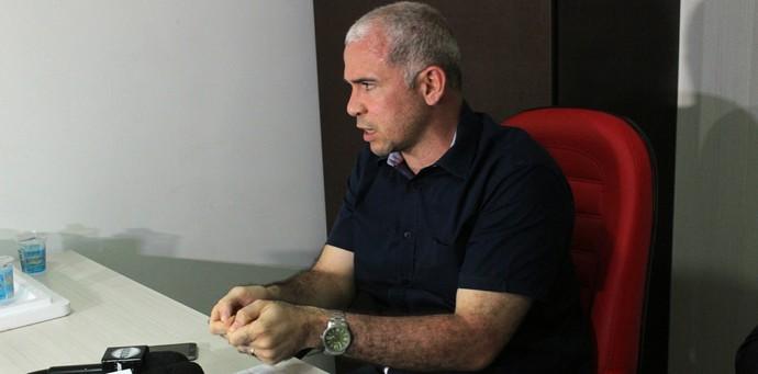 Tiago Vasconcelos, presidente do Flamengo-PI  (Foto: Josiel Martins)