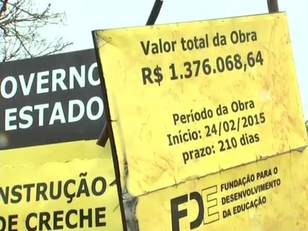 Creche está sendo construída em Rio Preto  (Foto: Reprodução/TV TEM)