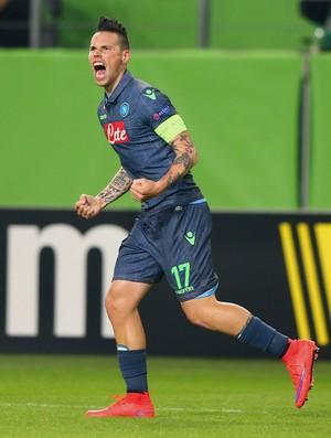 Hamsik - Napoli x Wolfsburg (Foto: AFP)