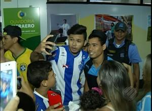 Paysandu é recebido com festa e já pensa no Fluminense (Foto: Reprodução/TV Liberal)